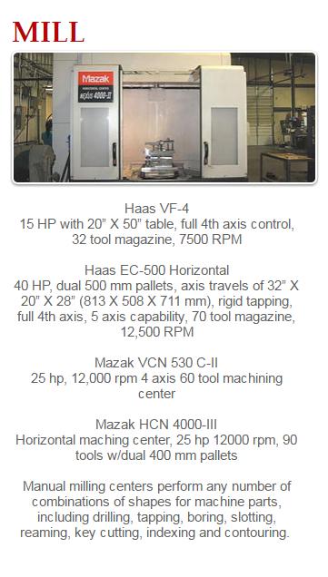 CNC Machining Capabilities – Kennley Corporation – Precision CNC